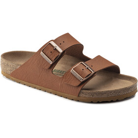 Birkenstock Arizona Sandals Birko-Flor Saddle Matt Vegan Regular Men, ginger brown